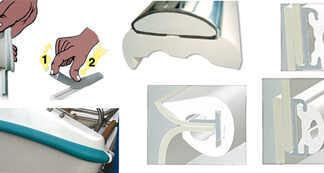 Profili parabordo in PVC